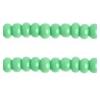Seedbead Opaque Medium Green 13/0 Strung